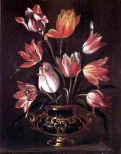 Abraham Breughel, Vaas met tulpen.