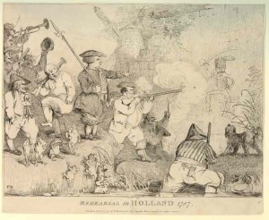 Rehearsal in Holland, 1787 (Johann Heinrich Ramberg). Coll. British Museum