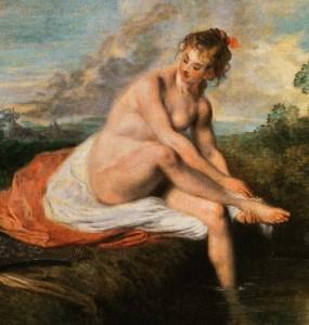Watteau - Badende Diana 1716