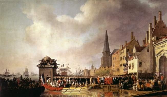 Napoleon en Marie-Louise in Antwerpen