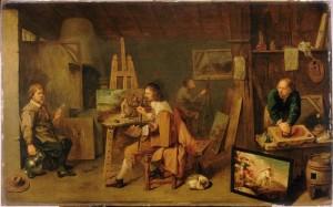 David Ryckaert III, Schildersatelier (1638)