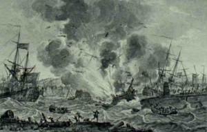 Explosie haven Curacao 1778