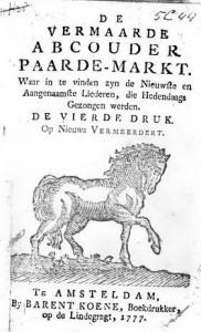Vermaarde Abcouder paarde-markt (1777)