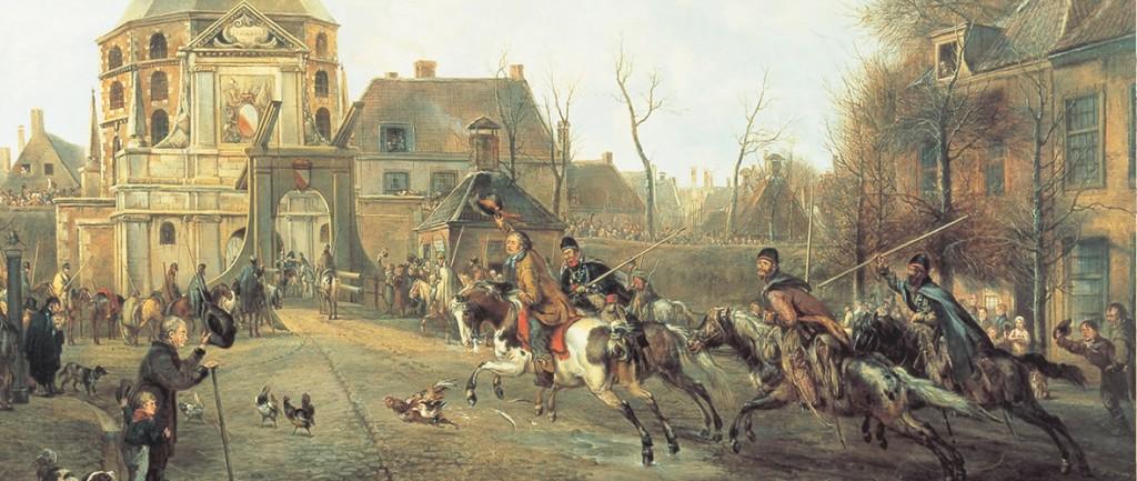 Aankomst kozakken in Utrecht op 28 november 1813, door Pieter Gerardus van Os (1816). Coll. Centraal Museum, Utrecht.