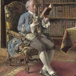 Johann Hamza Lezende man in bibliotheek
