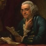 Lezende man (Franklin) door James Reid Lambdin