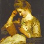 Lezende vrouw, Theophila Palmer Reading Clarissa, Joshua Reynolds