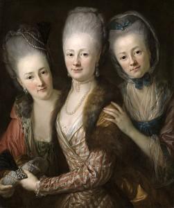 Vrouw en dochters van Johann Julius von Vieth und Golssenau