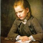 Greuze - Student who studies his Lesson 1757