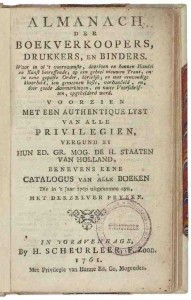 Almanach der boekverkopers