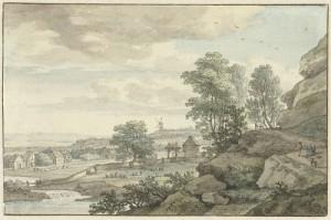 Gezicht op Bentheim, door Isaac de Moucheron (1743)