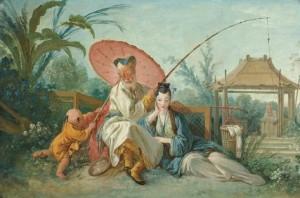 La Pêche chinoise, door François Boucher (voor 1742)