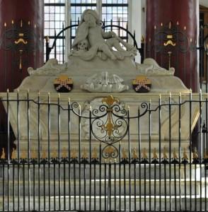 Praalgraf van Catharina Alida van der Dussen in de Grote of Barbarakerk te Culemborg
