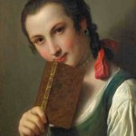 Vrouw met boek, Pietro Antonio Rotari 1762