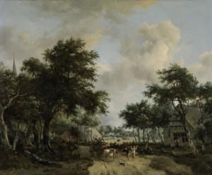 Op de lachende kar van Meindert Hobbema (coll. Rijksmuseum)