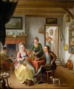 Het Wafelhuis (1775), door Willem Joseph Laquy. Coll. Rijksmuseum Twenthe