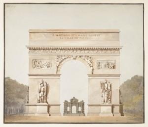De Arc de Triomphe (1819), van Henry Parke