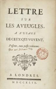 Diderot Lettre sur les Aveugles