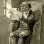 Lezende man, W Geikie, 1795-1835 kopie