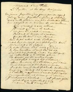 Manuscript De fabel van de vlinder en de twee spinnen. Coll. HUA, archief familie Van Hardenbroek