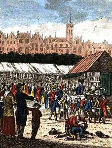 'De koek-kraam' uit Kermis-tafreeltjes, in geëtste kunstplaatjes (3e dr.), van C.F. Bendorp