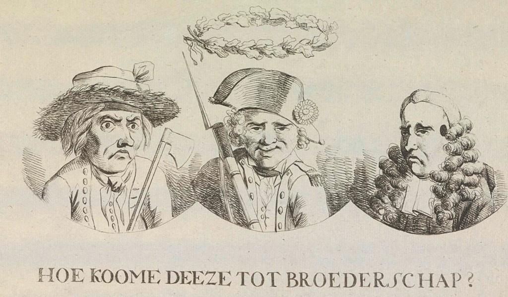 spotprent gelijkheid broederschap