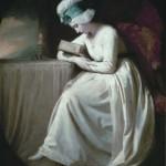 George Romney - Serena reading