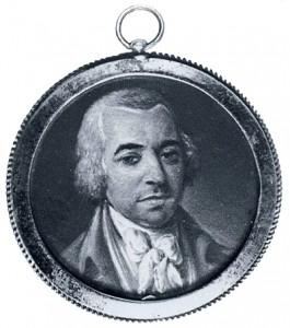 Willem Bilderdijk in een medaillon, geschilderd door Hendrik Willem Schweickhardt