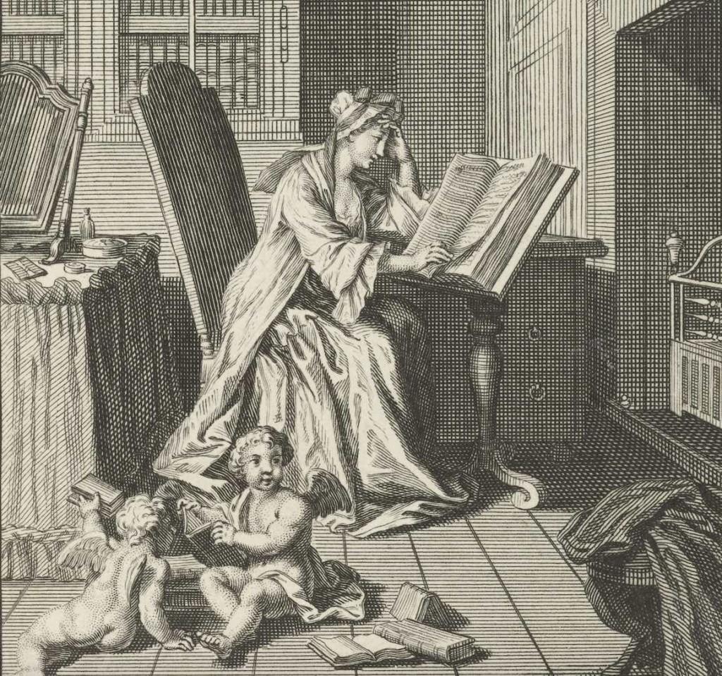 boeken lezende vrouw