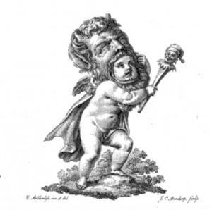 Titelvignet van Bilderdijks Zedelijke gispingen (1820)
