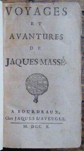 Titelpagina van Tyssot de Patots anoniem uitgegeven reisverhaal.