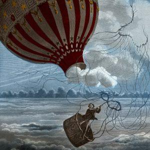 Charles Laplante (1837-1903) naar Albert Tissandier (1839-1906), Dood van de luchtreiziger La Mountain, 1875.