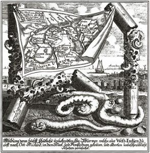 Duits pamflet over de paalworm (1733)