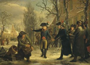 generaal-daendels-neemt-afscheid-van-luitenant-kolonel-krayenhoff-door-adriaan-de-lelie-1795