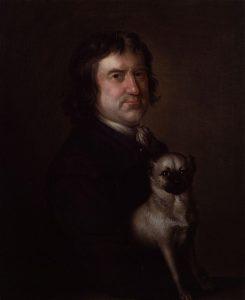 Bampfylde Moore Carew (1690-1758). Olieverfschilderij door Richard Phelps, 1750 Bickleigh Castle, Bickleigh.