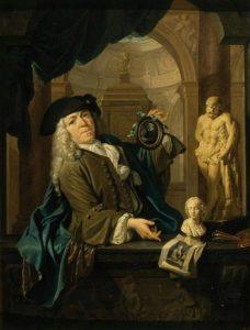 Portret van Arnoud van Halen (1673-1732), door Christoffel Lubieniecki, 1725. Poesjkinmuseum, Moskou.